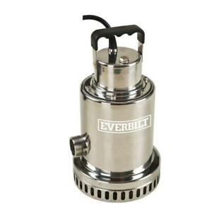 Utility Pump Submersible 1 2 Hp Overload Protector Oil free Motor Design