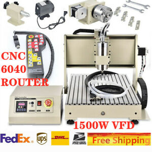 4axis 6040 Cnc Router Engraving Drilling Milling Machine Water cooling 1 5kw rc