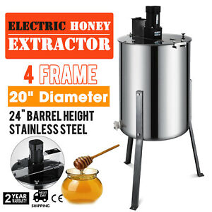 110v Beekeeping Equipment Electric 4 Frame Stainless Steel Ss Honey Extractor