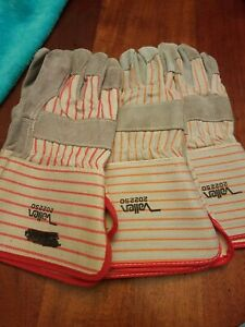 Lot Of 3 Vallen Extended Cuff Leather Palm Safety Glove 2022 S O