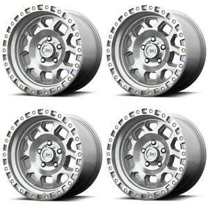 Set 4 17 Xd Series Rg2 Xd132 17x8 6x120 25mm Machined Truck Wheels