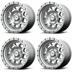Set 4 17 Xd Series Rg2 Xd132 17x9 8x6 5 12mm Machined Lifted Truck Wheels