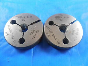 M10 X 1 25 6g Metric Thread Ring Gages 10 0 Go No Go P d s 3606