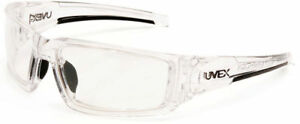 Uvex Hypershock Safety Glasses Clear Ice Frame Clear Hydroshield Anti fog Lens