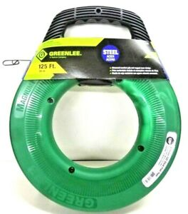 New Greenlee Fts438 125 Steel Fish Tape 125ft Free Shipping