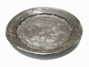 Antique American Pewter Large Plate 16 1 2