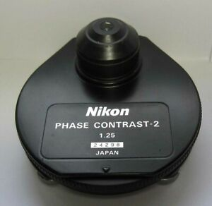 Nikon Phase Contrast 2 Dark Field Condenser 1 25 Optiphot Labophot Excellent