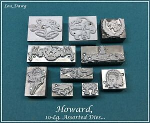 Howard Personalizer 10 lg Assorted Dies Hot Foil Stamping Machine