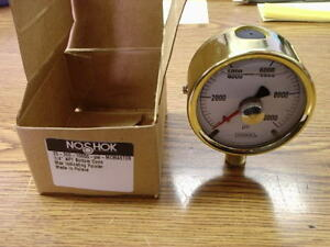 Noshok Brass 0 10000 Psi Gauge Free Shipping