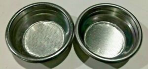 Used Double 14g Portafilter Basket Fits Most Commercial Handles Set Of 2 1001