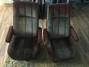 1980 86 Ford Truck Bronco F150 250 350 Bucket Seat Set Jump Red Pickup Extra Cab