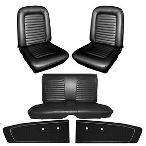 1965 Mustang Coupe Seat Cover Upholstery And Door Panel Set Your Color Choice