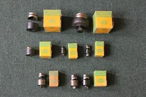 Greenlee 730 Round Metal Radio Chassis Knock Out Conduit Punch Set Lot Of 8