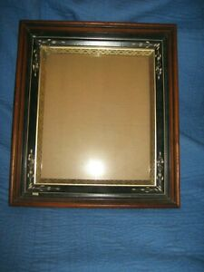 Antique Aesthetic Eastlake Victorian Deep Gold Gilt Picture Frame 10 X 12