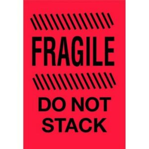 4 X 6 Fragile Do Not Stack Labels 500 Per Roll
