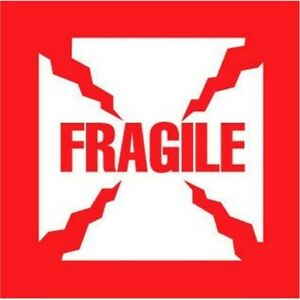 6 X 6 Fragile Labels 500 Per Roll