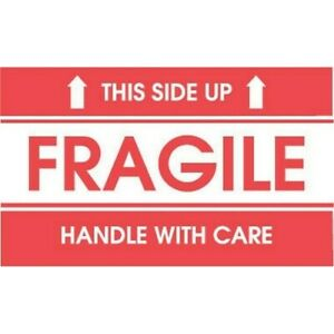 4 X 6 Fragile This Side Up Handle With Care Labels 500 Per Roll
