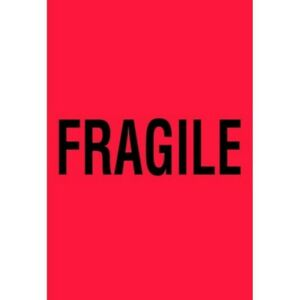 4 X 6 Fragile Labels 500 Per Roll
