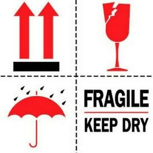 6 X 6 Fragile Keep Dry Labels 500 Per Roll