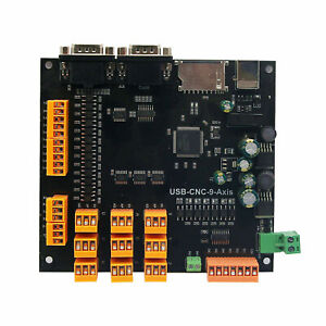 9axis Cnc Controller Set For Stepper Servo Motors Breakout Board usb Cable cd