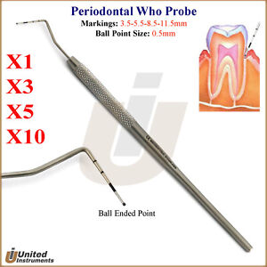 Periodontists Who Probes Dentist Pick Periodontal Probe Tooth Depth Measuring Ce