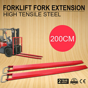 84 x5 2 forklift Pallet Fork Extensions Pair Useful Retaining Steel Pro