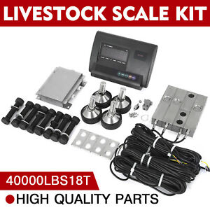 40000lbs Livestock Scale Kit For Animals Platform Scales Agriculture Indicator