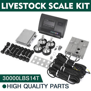 30000lbs Livestock Scale Kit For Animals Stainless Steel Agriculture Load Cells