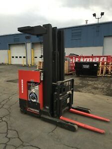 2002 Raymond Forklift Reach Truck 4000lb 211 Lift W battery Chgr 95 Tall hd