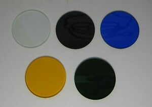 5 Light Filter Kit To Microscope Lomo Carl Zeiss Jena D 33 3 Mm