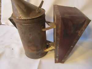 Antique Honey Bee Hive Smoker Vintage Primitive Beekeeping Tool