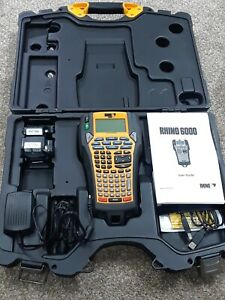 Dymo Rhino 6000 Industrial Professional Label Maker With Case Needs Battery