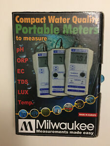 Milwaukee Mw101 Smart Portable Ph Meter tester Se220 Probe Solutions