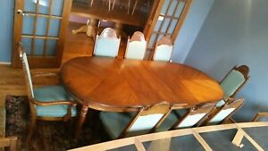 United Furniture Mid Century Modern Post War Design Dining Room Table W 8 Chairs