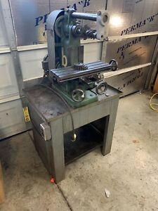 Benchmaster Horizontal Mill Mh1 Milling Machine Table 18x6 Clean Flaked Ways