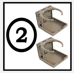 2pk Beige Ecru Tan Cup Drink Holder Cupholder Fits Mercedes Benz Volvo Bmw Saab