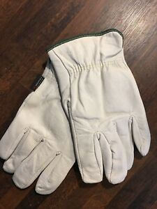 Pack Of 12 Pairs Memphis Cowhide Leather Work Gloves Medium 100 Cotton