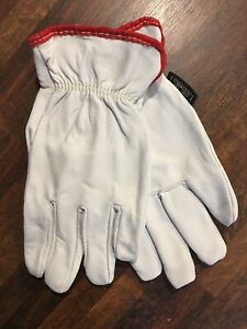 Pack Of 11 Pairs Memphis Cowhide Leather Work Gloves Small 100 Cotton