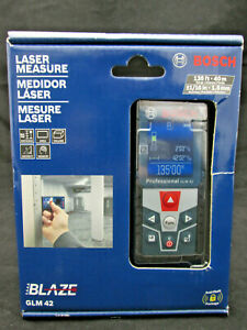 Bosch Glm 42 Blaze Laser Measure 135ft 40m