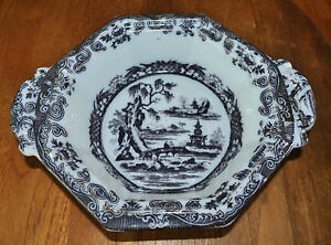 Antique Flow Mulberry Staffordshire Ironstone Bowl Venables Beauties Of China