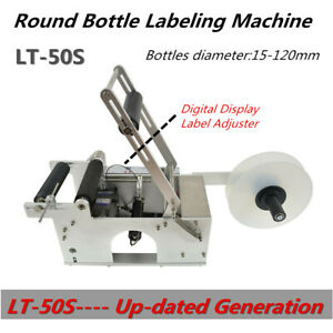 Lt 50s Semi auto Round Bottle Labeling Machine Self adhesive High Accuracy New