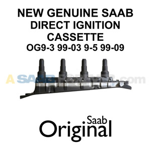 New Oem Saab 9 3 9 5 Black T7 Direct Ignition Coil Cassette Genuine 55559955 Dic