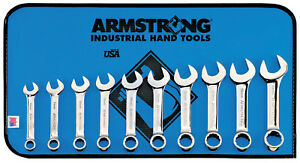 Extra Short Metric Combination Wrench Set 10 Pc 12 Point Full Polish Armstrong