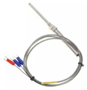 Pt100 50mm M8 Resistive Sensor Probe 1m Stainless Steel Temperature Thermocouple