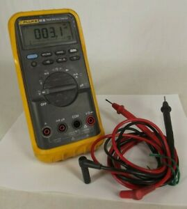 Fluke 85 iii Usa True Rms Multimeter With Leads Boot Works
