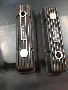 Small Block Chevy Finned Aluminum Valve Covers Vintage Weiand Free Shipping