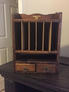 Vintage Letter Box With Two Small Drawers On Bottom