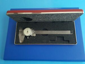 Nice Starrett 120a 0 6 Stainless Dial Calipers Case White Face Made In The Usa