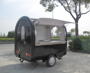 Custom Food Vending Cart Any Color W Tow Hitch stainless Steel Mobile Food Truck