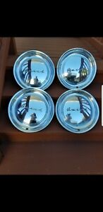 Vintage Set Of 4 1950 S Buick Full Size 15 Hubcaps Nice Driver Set Of 4 Oem